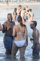 Ashley Graham - Bikini on the beach in Greece, 7/15/2018