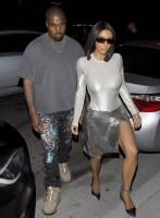 Kim Kardashian - Braless Seethrough in white dress, L.A., 7/29/2018